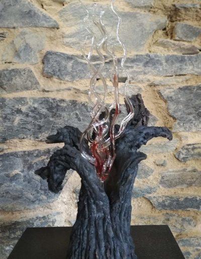 CERIANTHUS FLAMME - Verre, céramique - Réalisé avec Mireille Tua